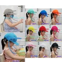 Topi Anti Corona anak baseball dan dewasa / topi faceshield baseball
