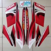 Striping Stiker Motor Yamaha Nouvo Z 2006 Hitam-Merah