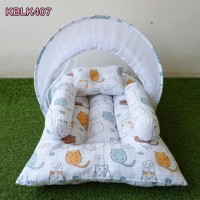 Kasur Bayi Lipat Kelambu - Tempat Tidur Bayi Motif Hamster
