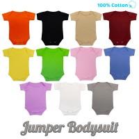 Baju Bayi Jumper Bodysuits Katun polos jumpsuit baby newborn