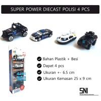 Super Power Diecast Set Mobil Polisi | Mainan Miniatur Mobil Polisi