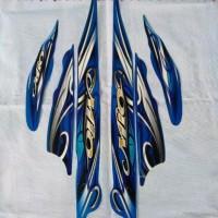 striping sticker & list body Mio sporty smile Full bodi biru