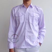 Baju seragam sekolah PDH SD/SMP/SMA panjang Size(6-17) - 6-7, Putih