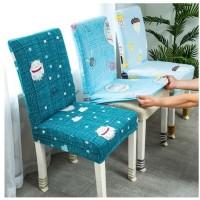 Jual cover kursi makan elastis/Elastic Chair Cover Shabby
