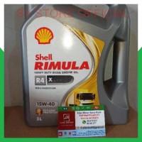 SYSS Oli Shell Helix Rimula R4 X SAE 15W40 Galon 5 Liter Original