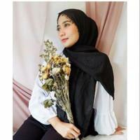 Termurah pashmina crinkle 95x190 / Pashmina Crinkle / Pashmina / - Hitam