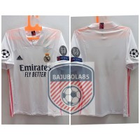 REAL MADRID HOME 2020 FULLPATCH UCL - Putih, S