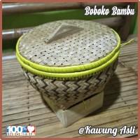 Bakul Wakul Sangkul Boboko Ceting Nasi dengan Tutup dari Bambu D22