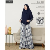 SET BAJU GAMIS Syari Hijab Wanita Muslimah Dress GM 087 ORI Hai-Hai