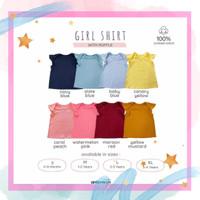 T-shirt Baju Kaos Bayi Anak Perempuan Polos Ruffle Lucu Ardenleon