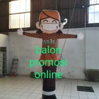 Balon Sky Dancer Karakter + Blower 18inch + lampu LED tinggi 2.5m