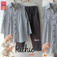 New Richie Set Setelan Celana Wanita Jumbo Baju Kerja Big Size Modis