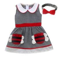 Two Mix Dress Bayi Perempuan / Baju Bayi Cewek GRATIS Bandana 4004