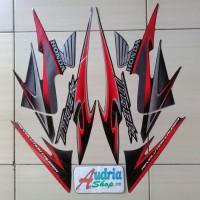 Stiker Striping Motor Honda Tiger Revo 2013 Hitam-Merah
