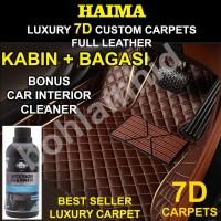 Karpet RUSH 7 Seat 06-17 HAIMA 7D Custom Leather Luxury 3brs+bagasi