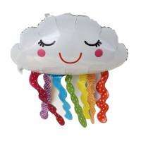 Balon Foil Awan Pelangi Rumbai / Rainbow Cloud Tassel Jumbo Size 80 cm