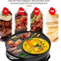 Hotpot Barbeque Grill pan Wajan Penggorengan Multifungsi Electric Barb