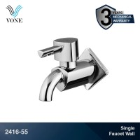 VONE 2416-55 Keran Kran Taman Air Single Wall Tembok Taman Chrome