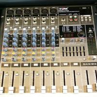 Mixer Audio TUM PRO FX 6 FX6 Mixer 6 Channel