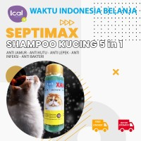Septimax Shampoo Kucing Herbal 5 In 1 Anti Kutu Anti Lepek