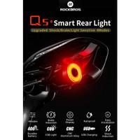 Rockbros Lampu Belakang Sepeda Q5 Smart Brake Auto Start Stop Sensor