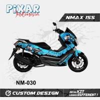 STICKER DECAL MOTOR YAMAHA NMAX 155 DORAEMON BLACK FULL BODY