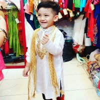 Baju India Anak Laki Ori Putih