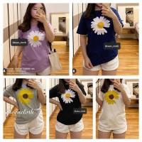 Kaos Wanita DAISY FLOWER Bahan Katun T-Shirt Wanit Tumblr Tee