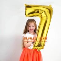 Balon foil angka gold 80 cm/ balon angka jumbo / balon angka sedang