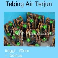 PROMO MURAH Tebing Air Terjun Mini Aquarium Aquascape 20cm