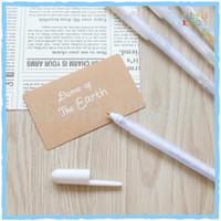White Gel Ink Pen   Pulpen Gel Tinta Warna Putih - White