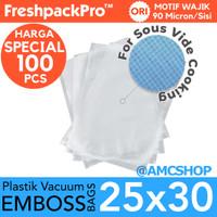 FreshpackPro 25cm x 30cm Plastik Vacum Sealer Bag Embos / Embossed
