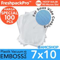 FreshpackPro 7cm x 10cm Plastik Vacum Sealer Bag Embos / Embossed