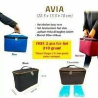 Cooler Bag Tas Asi Avia / Tas penyimpan asi free 2 blue ice gel - Hijau