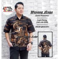 Wayang Naga Kemeja Batik Pria Lengan Pendek Atasan Batik By GBA