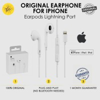 Earphone Lightning Apple iPhone 7 8 X XS Max 11 Pro Earpods Original
