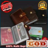 Dompet Kartu dan Uang Kulit Asli Premium - Dompet Kartu Pria Wanita