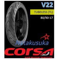 Ban Luar CORSA V22 Tubeless (TL) 80/90-17