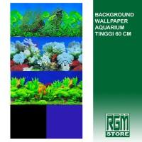 wallpaper background aquarium tinggi 60 cm aquascape