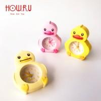 Jam Meja Mini Farm Animal Duck / Cute Alarm Clock HOW.R.U