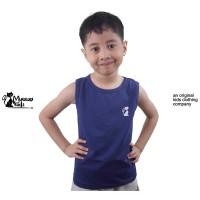 Mueeza Kids Original Baju Kaos Anak Tank Top Kutung Lekbong Anak Navy - 5-6 tahun