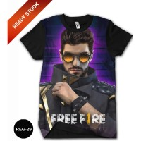 Baju Free Fire Dewasa Kaos Free Fire Kartun Series #REG-29