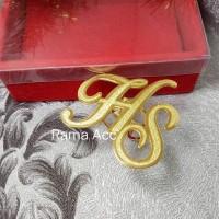 ring hijab,ring kerudung ukir nama gold lapis emas