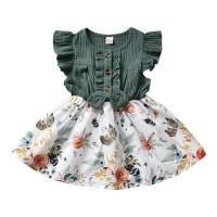 baju bayi perempuan / dress hijau anak / gaun anak / gaun balita