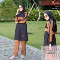 Setelan Olahraga Muslimah + Believe BMS 24 + Baju Olahraga Wanita Ori