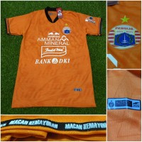 Jersey Kaos Baju Bola Persija Jakarta 3rd Third Orange 2020 Grade Ori