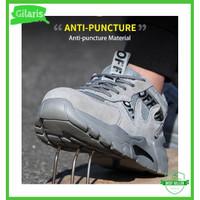Sepatu safety boots sneakers unisex uk 36-46 gaya casual sporty ringan