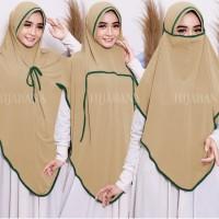 Jilbab 3in1 Masker Cadar Jersey / Khimar Instan Bergo / Hijab Instan