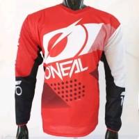 Baju Jersey cross sepeda downhil oneal merah