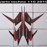 Striping sticker lis body vario techno 110 karbu cw 2010 full hitam